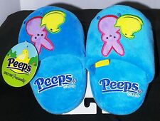 PEEPS JUST BORN BUNNY & CHICK Blue  SLIPPERS Child SM 5-8 ~NWT~