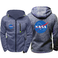 Nasa National Space Galaxy  Hoodie Warm Jacket Sport Sweatshirt Full-Zip Coat