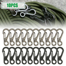 10Pcs SF Mini Carabiner Spring Hook Clips Backpack Paracord Clasps EDC Keychain