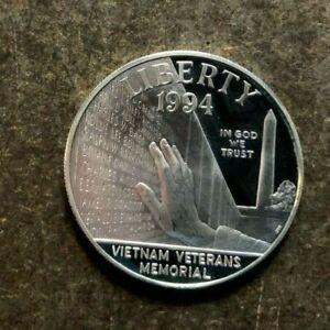 1994-P Vietnam Vets Memorial Commemorative Silver $1 Dollar Coin - No Reserve