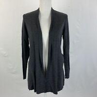 J. Jill Cardigan Open Front Long Sleeve Wool Blend Gray Size Small