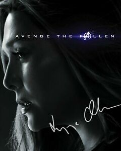 ELIZABETH OLSEN - SCARLETT WITCH AVENGERS SIGNED AUTOGRAPHED A4 PP PHOTO POSTER