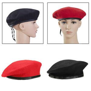 Men Women Military Army Soldier Hat Beret Uniform Adjustable Summer Cap Unisex