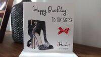 Handmade Personalised Female Designer Jimmy Choos Shoes Birthday Card 18 21 30