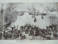 ANTIQUE PRINT C1909 THE DESTRUCTION OF JERUSALEM BY THE ROMANS FROM PAINTING ART