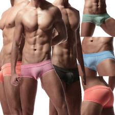 Men's Smooth Underwear Bulge Pouch Boxers Briefs Thongs Underpants Bikini Wear