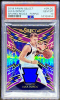 Luka Doncic 2018-19 Panini Select Sparks Purple Prizm Rookie RC /99 PSA 10 POP 5