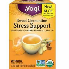 Yogi Herbal Tea Stress Support Sweet Clementine Caffeine Free 16 Teabags 10/21