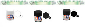 Greenhills Tamiya Acrylic Paint Pack - White X2 + Flat Black XF1 + Black X1 - PP