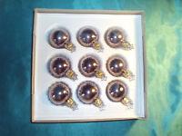 9 kleine Inge Glas® Christbaumkugeln Glas hell violett Weihnachtsbaumkugeln Nr.2