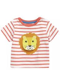 New Baby Boden Lion Animal Adventures 6 12 Months Shirt Top Stripe T-Shirt
