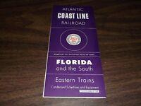DECEMBER 1959 ACL ATLANTIC COAST LINE RAILROAD PUBLIC TIMETABLE