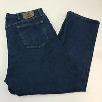 Wrangler Denim Jeans Mens 42X30 Blue Straight Leg Regular Fit 100% Cotton Washed