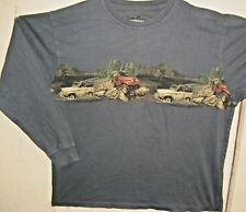 NORTH RIVER OUTFITTERS, Classic Jeeps, Blue Gray Long Sleeve Cotton T-Shirt, 2XL