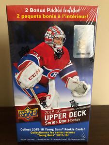 2015-16 Upper Deck Series 1 Hockey Blaster Box Young Guns Connor McDavid Rookie?