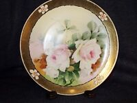 "Stunning O & EG Royal Austria Hand Painted Signed Art Nouveau Style 9"" Plate EUC"