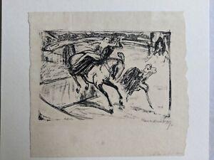 Hans Meid (1883-1957) Zirkus? Lithografie? 1909? signiert