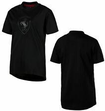 Puma Ferrari Lifestyle Womens Big Shield T-Shirt Tee Top Black 576670 01 A16E