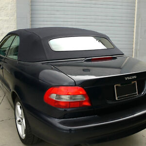 Volvo C70 Convertible Top for 1999-2006 in Black Stayfast with Glass Window