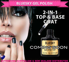 Bluesky Soak Off UV/LED Gel Nail Polish 2-IN-1 TOP & BASE COAT 10ml-needs lamp
