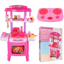 Stove Oven Kitchen Cooking Kits Play Chef Pretend Set With Sound Light Girls Toy