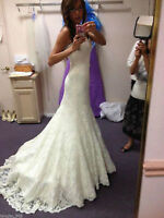 White / ivory Wedding dress lace Bridal Gown custom size 4 6 8 10 12 14 16 18 20