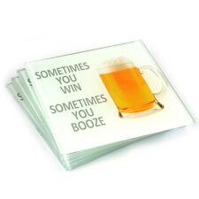 Conjunto de 4 Posavasos de cerveza de vidrio Salvamantel Protectores Bebidas Bar 142-625