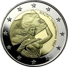 * LOT DE 5 PIÈCES -- 2 € COMMÉMORATIVE - UNC - MALTE 2014  - INDEPENDANCE