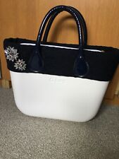 Genuine White Obag Mini Complete Bag With Lining. Leather Handles. Immaculate!