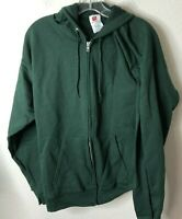 Hanes Men's Full-Zip Eco-Smart Fleece Hoodie, Deep Forest, Medium