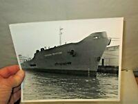 "1966 Louisiana Brimstone Freighter Ship B&W 8""x10"" Photograph in good shape NR"
