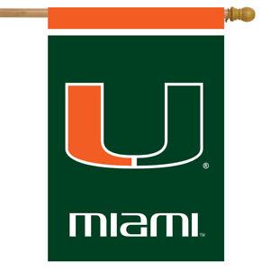 "Miami Hurricanes House Flag NCAA Licensed 28"" x 40"" Briarwood Lane"