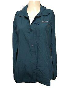 Columbia Titanium Women MEDIUM Woven Hiking Outerwear Snap Button-up Shirt(#m5