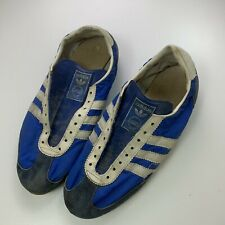 VTG 70s Adidas Blue 3 Stripe West Germany Mens Soccer Casual Sneaker Sz 10-11?