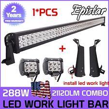 """50""""inch 288W + 2x 18W LED Light Bar + Mount Brackets For Jeep Wrangler TJ LJ New"""