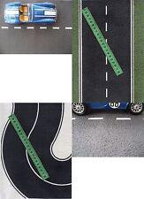 9  21x29cm SHEETS A4 ROADS EMBOSSED bumpy O SCALE  BLACK ASPHALT+grass+2 curve
