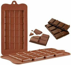 24 Cavity Chocolate Bar Shape Silicone Mould Sweet Mold Kids Baking Tray Choco