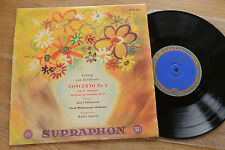 BEETHOVEN Piano concerto 4 PALENICEK Czech ANCERL 10 inch Supraphon blue gold