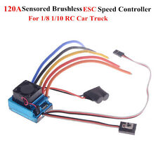 120A ESC Sensored Brushless Speed Controller for 1/8 1/10 RC Car RC Buggy Motor