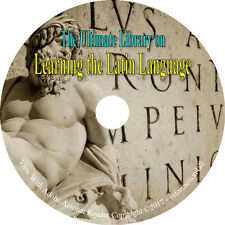 Learn the Latin Language, Ultimate Library on DVD – 80 Books Grammar Dictionary