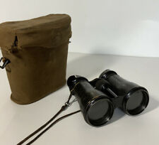 Ww1  Officers Field Binoculars With Genuine Pouch Lenses 10