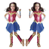 Girls Superhero Dawn Of Justice DC Wonder Woman Cosplay Halloween Child Costume