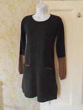 Acrylic Blend Patternless Jumper Dresses