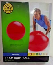 Gold's Gym Durable Body Ball 65cm Balance Fitness Yoga Core Tone Air Pump