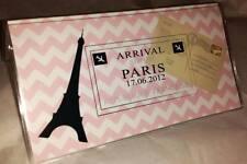 Checkbook Cover Paris Eiffel Tower Pink Chevron Stripes Suzie's Designs Gift