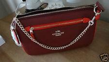 COACH 53467 Lolita Colorblock Pebble Leather 24 Wristlet Black Cherry NWT