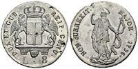 REPUBBLICA DI GENOVA 8 LIRE 1796 SAN GIOVANNI ARGENTO RARA