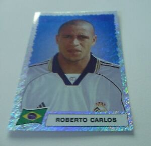 Panini Super Football 99 Roberto Carlos Real Madrid Foil Sticker Number E