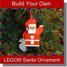 BrickCrafts Build-Your-Own LEGO® Santa Christmas Holiday Tree Ornament