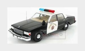 Chevrolet Caprice Highway California Police 1987 Black White MCG 1:18 MCG18218 M